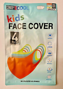 32 Degrees Cool Kids Unisex Face Cover 4-pack Durable Stretch Washable UPF 50+