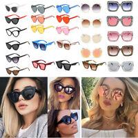 Unisex Vintage Retro Women Men Glasses Oversized Mirror Lens Sunglasses Fashion