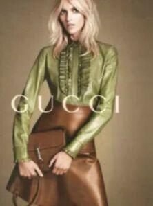Gucci New Jackie Crossbody Handbag Soft Pebbled Leather Convertible 2 Way Bag