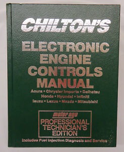 Chilton's Engine Controls Asian Service Repair Manual 1992