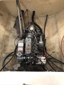 Yanmar 3GM30F diesel engine from a boat, 24 hp, three cylinder
