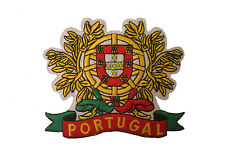 "PORTUGAL LARGE .. EMBROIDERED IRON-ON PATCH CREST BADGE 3 3/4' X  3 1/4"" INCH"