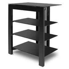De Conti ARCAXL 4 (400mm) Shelf Hi-Fi Stand In Black with Black Glass Shelves