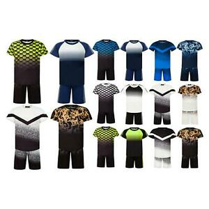 Boys T-shirt and Shorts Set Splash Contrast Panel Short Sleeve Top Summer Outfit