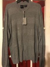 Armani Exchange A|X Mens Sweater Full Zip Grey Xl New $98