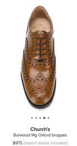 Church's Bureood Wg Oxford Brogues Shoes Size 38.5