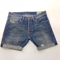 Diesel SAFADO Mens Denim Cut Off Jeans W32 L6 Blue Regular Fit  Mid Rise