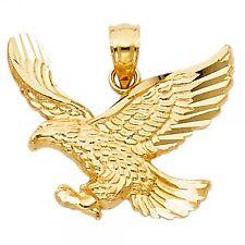 14K Yellow Gold Eagle Pendant GJPT1596