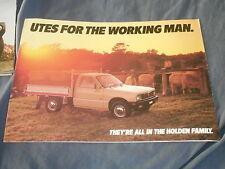 1980s Holden Utes Isuzu Pickups from Australia Color Brochure Prospekt