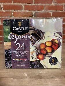 Castle Arts 24 Premium Soft Touch Colored Pencils, Cezanne Collection Sealed