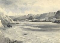 Ellis, River Mawddach Estuary, Barmouth, Wales – 1877 watercolour painting