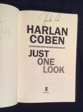 SIGNED -  Just One Look By Harlan Coben HC 1/1 + SIGNED w/ Sampler