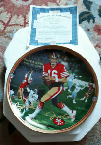 """The Bradford Exchange """"Great Moments in NFL football Collector Plate"""