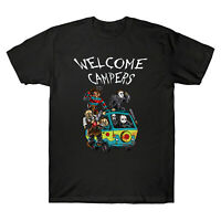 Welcome Campers Funny Camping Massacre Machine Horror Halloween Men's T-shirt