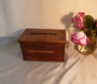 19th Century Antique Oak Box-Money Box/Suggestion Box-Great History & Character