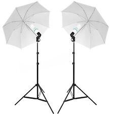 Photo Studio Continuous Lighting 135W Umbrella Light Lamp Photography Stand Kit