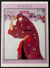 VOGUE MAGAZINE COVER POSTER NOV 1920 WINTER FASHION SNOW FUR COAT ART DECO PRINT