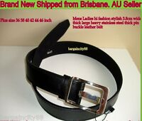 New Quality3.8cm Wide Fashion Causal Dress Work Leather Belt Sz36 38 40 42 44 46