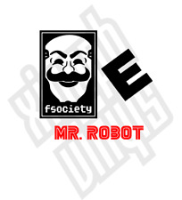 Mr. Robot F Society Vinyl Car Sticker decal hactivist laptop Evil Corp ipad set