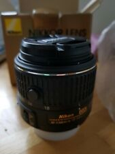 nikon af-p dx nikkor 18-55mm f/3.5-5.6g vr lens As N ew With End Caps