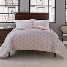 Bed Bath and Beyond Garment Washed Solid TWIN 2-Pc DUVET Cover Set DAMASK Print