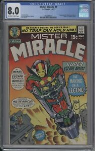 MISTER MIRACLE 1 CGC 8.0  OW/W 1971 FIRST APPEARANCE MISTER MIRACLE KIRBY