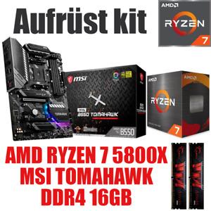 AMD 🆁🆈🆉🅴🅽 7 5800X ● MSI B550 Mainboard ● 16GB RAM ● Ryzen PC Bundle Set Kit