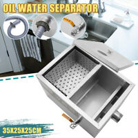 22L Commercial Stainless Steel Grease Trap Interceptor for Kitchen Wastewater
