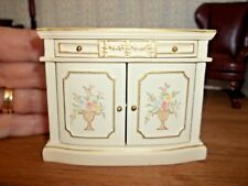 SMALL HAND PAINTED SIDE CABINET - JBM MINIATURES -  DOLL HOUSE  MINIATURE