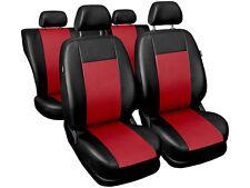 Ford Sierra Auto Sitzbezüge Schonbezüge Kunstleder Universal schwarz rot