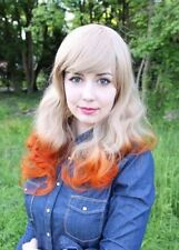 Mehrfarbige Kunsthaar-Perücken & -Haarteile aus Echthaar-gelockte Kunst
