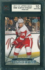 2011 12 UPPER DECK YOUNG GUNS SP #468 GUSTAV NYQUIST RC ROOKIE KSA 10 GEM MINT!!