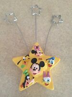 1928-2001 Disney Yellow Star HallmarK Recipe Holder Mickey Goofy Pluto Donald