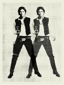 """Star Wars Double Han Solo Limited Screen Print Art Poster #500 18"""" x 24"""""""