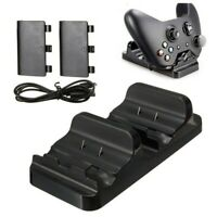 Dual Charging Station Dock Stand + 2 Battery For Xbox One Wireless Controll Y4C8