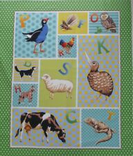 PANEL New Zealand Kiwi Pukeko Fantail Tuatara Rooster Fabric Craft Quilting Sew