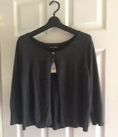 New! EXPRESS  Women's Cardigan Sweater 3/4 sleeve Size M Gray