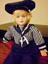 """German Doll dressed in her little sailor suit. Bisque face and hands. 10"""""""