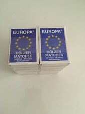 EUROPA SAFETY MATCHES 10 BOXES 38 Matches Each BOX TOTAL 380 WOODEN