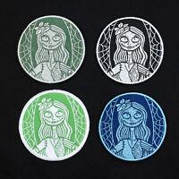 Disney Frozen Arendelle Anna Mock Starbucks Logo Embroidered Iron-On Patch