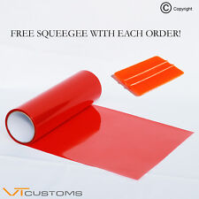 30 x 100cm Red Headlight Tinting Film Fog Vinyl Lights Tint + FREE SQUEEGEE