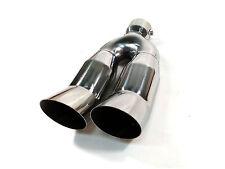 cromo tubo doppio acciaio inox cappa di Scarico Doppio Scarico Sportivo