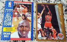 MICHAEL JORDAN 1991 1992 Fleer All Star Leader Card LOT Chicago Bulls HOF MVP $$