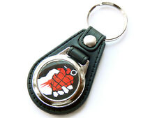 More details for green day american idiot rock band quality leather and chrome keyring