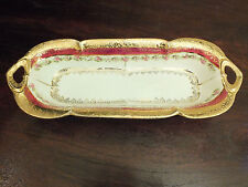 "Vtg Hand Painted / Gilded German Relish Tray ""1903-1930 Ilmenauer Porcelain IPF"""