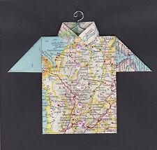 Origami Map Shirt South America, Colombia, Bogota, Medellín, Cordoba, Montería