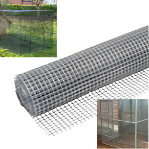 25mm Square Wire Mesh 5m Roll, Galvanised Netting Garden Screen, Fence or Aviary