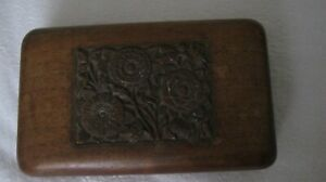 Small-Medium Vintage Carved Wooden Trinket Box Very Good Clean Condition