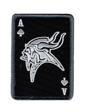 Ace Of Spade Vikings Dead Card VELCRO® BRAND MORALE PATCH (MTV1)