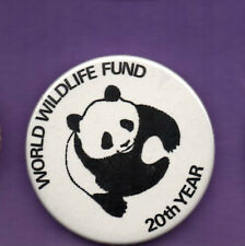 World Wildlife Fund - 20th Year - Panda -  Button Badge 1980's